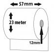 Bonrolle, Normalpapier, 57mm, Länge: 23m, VE: 100 Stk.
