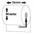 Bonrolle, Normalpapier, 76mm, Länge: 80m, VE: 32 Stk.